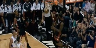 LeBron James Rises Up for the 1 hand alley-oop from D-Wade | Dunk of the Day