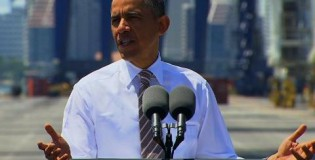 "Obama talks about the Heat in Florida ""I know you aren't happy with my Chicago Bulls"""