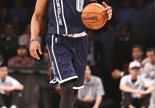 Russell-Westbrook-brings-the-ball-up-the-court-in-his-fancy-new-shoes.-Debby-Wong-USA-TODAY-Sports