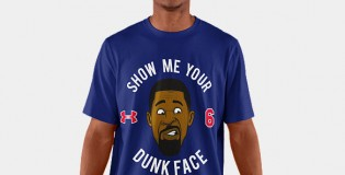 "Under Armour selling DeAndre Jordan ""Show Me Your Dunk Face"" tshirts"