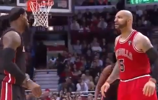"LeBron called for flagrant on Boozer who has ""his big boy pants on"" 
