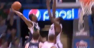 "Larry Sanders blocks Alec Burks' dunk attempt – Burks ""fans"" disappointed"