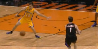 Goran Dragic's assist through the legs of Steve Nash / Student vs Master