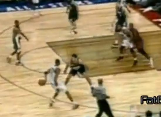 Tracy McGrady's sweet 1 hand behind the back dribble in 2002 All-Star Game