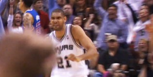 Tim Duncan scores 34 points & hits the and1 game winner vs the Clippers