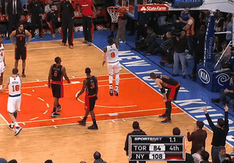 JR Smith scores at the buzzer – to give the Knicks a 26 point victory