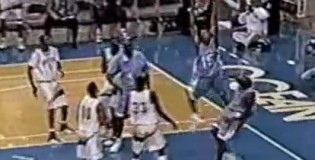 Rare Vince Carter UNC Dunks – bends the rim & dunks on Tim Duncan