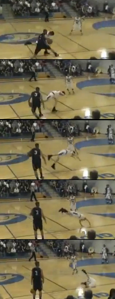 Crossover causes defender to dive to the floor – One of the NASTIEST Drops Ever!