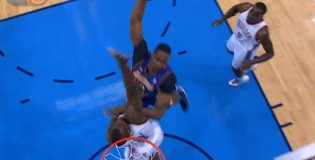 "Serge ""no suspension"" Ibaka blocks Dwight Howard's dunk 