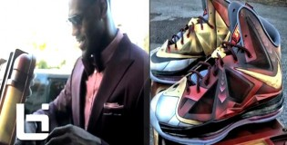 Lebron James Recieves Custom Tony Starks LB 10′s
