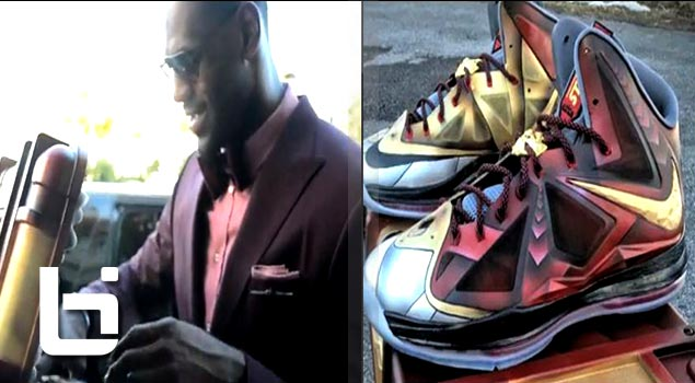 Lebron James Recieves Custom Tony Starks LB 10's