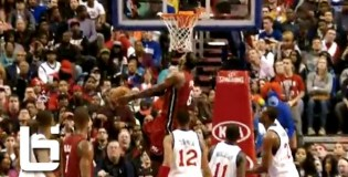 Lebron James NASTY  Reverse Dunk Down The Lane