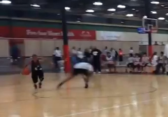 Man Down! 10 year old Chozen Amadi nasty crossover makes a kid roll on the ground