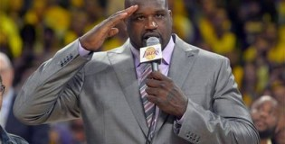 Shaquille O'neal's Full Lakers Jersey Retirement Ceremony