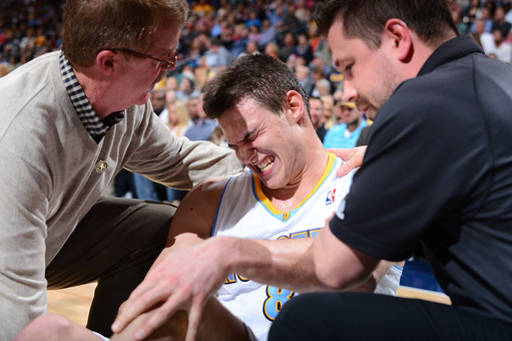 Denver's Danilo Gallinari's season most likely over with a torn ACL