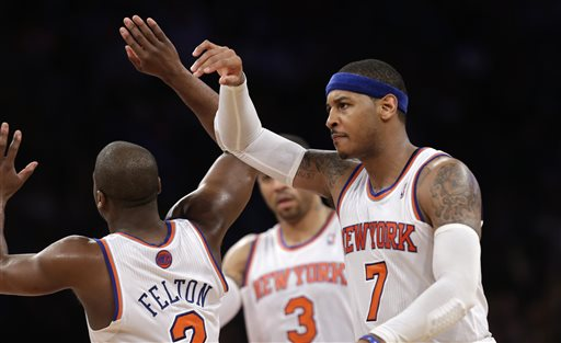 Raymond Felton, Carmelo Anthony, Kenyon Martin