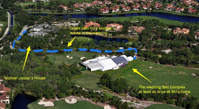 Michael Jordan's Wedding Tent Is The Largest In History [Photos Inside]