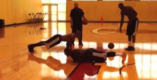 LeBron James makes Ray Allen &#038; Mario Chalmers do Push-Ups after Beating Them in Shooting Contest