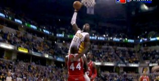 Roy Hibbert Dunks All Over Ivan Johnson And 1!