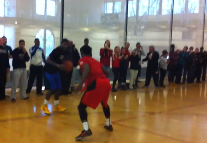 Kyrie Irving takes a bunch of ballers to school at Montclair State University