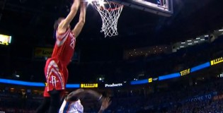 Chandler Parsons rebound dunk over Reggie Jackson in GM1