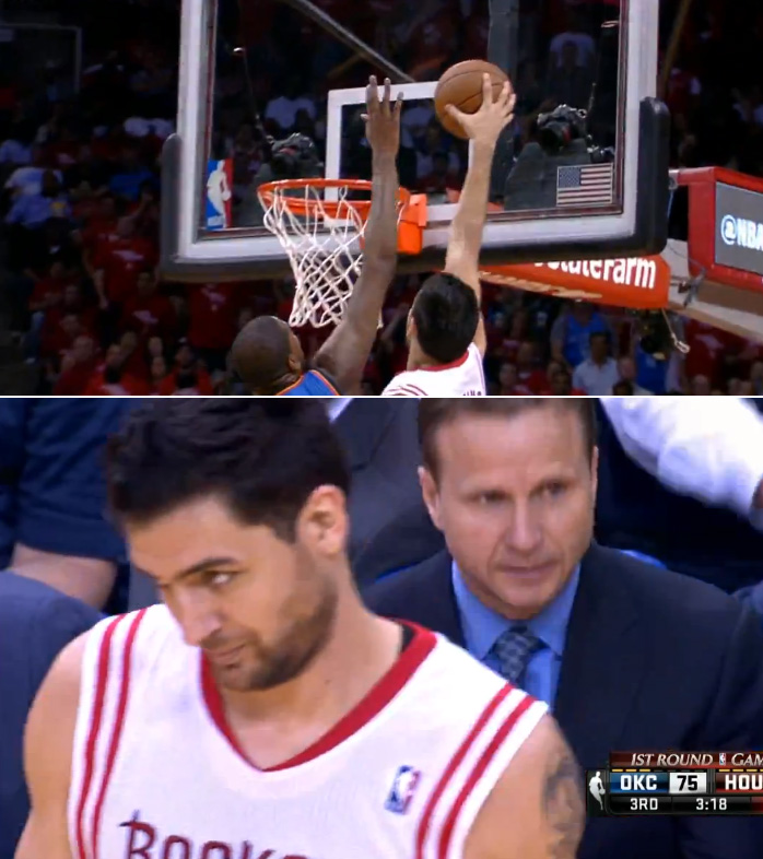 Carlos Delfino dunks on Kevin Durant then KD takes on 4 Rockets  and dunks on 2