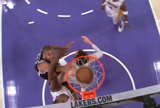 Duncan dunks on Pau Gasol & Metta World Peace / Lakers Win without Kobe