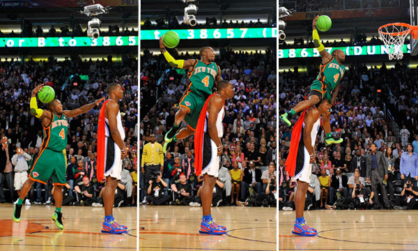 Nate robinson dunk over dwight howard