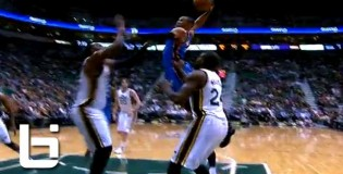 Russel Westbrook Splits The Defense & Takes Flight On Al Jefferson WOW!!