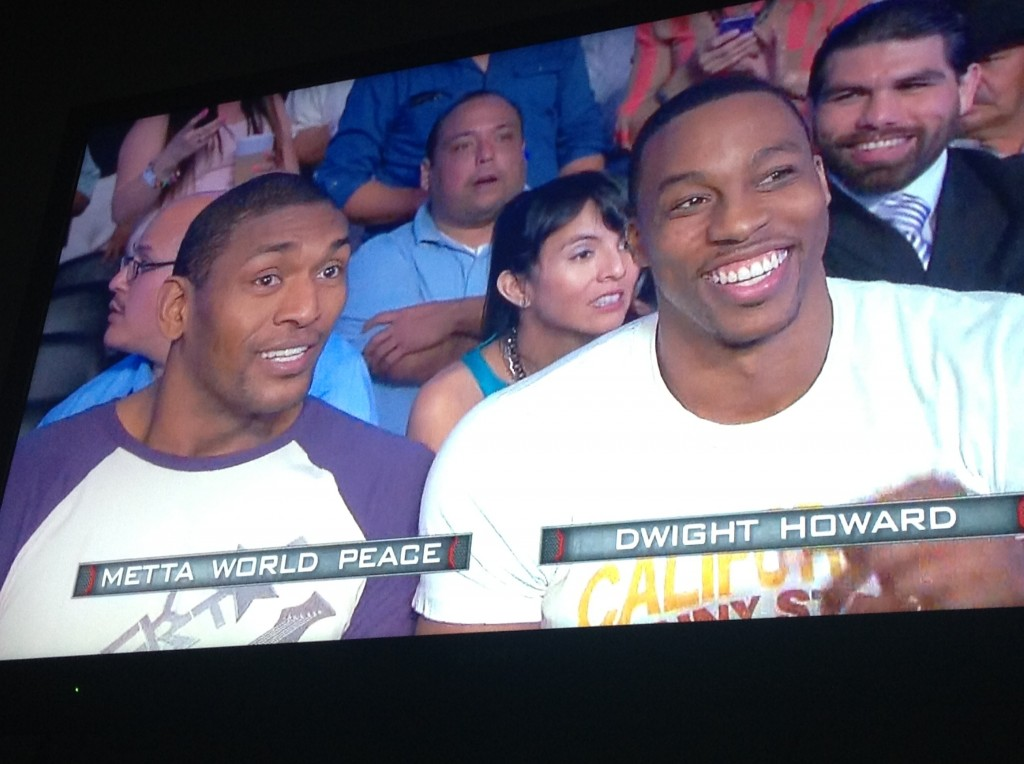 Magic Johnson upset that Dwight Howard & Metta attended the Canelo vs Trout fight