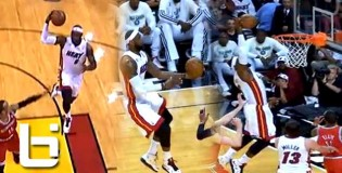 Lebron Fakes Out Monta Ellis & Throws A Lob To HIMSELF Off The Back Board