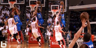 Kevin Durant posterizes Omer Asik & scores 41 points in GM3