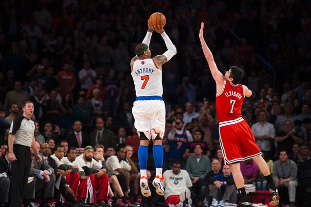 Forbes Magazine calls Carmelo Anthony most overpaid player in the league / Melo scores 131 points in last 3 games