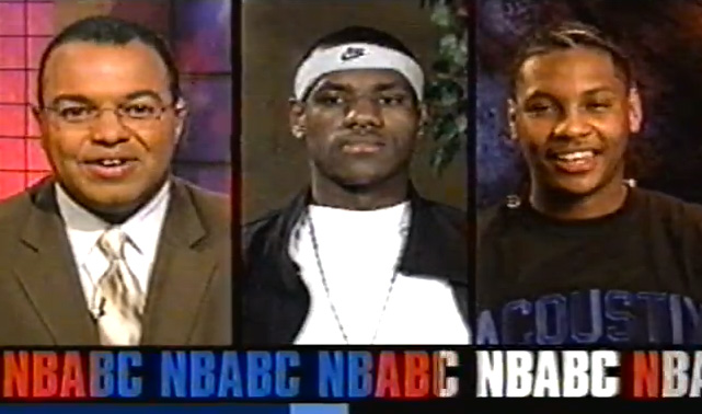 2003 NBA Draft Lottery interview with LeBron & Melo | LeBron vs Melo High School Game