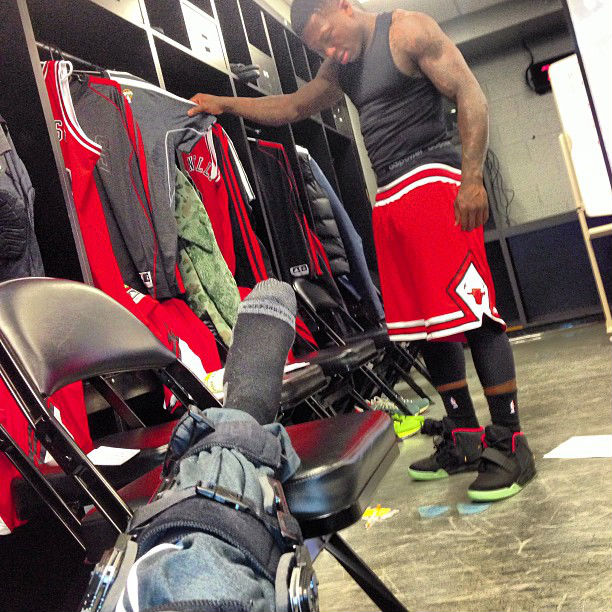 Nate Robinson Wears Nike Air Yeezy In A Game?