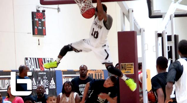 Isaiah Bailey Half Court Alley Oop Dunk at the Memorial Day Basketball Tournament