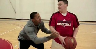 Lucky Fan Plays Derrick Rose One on One