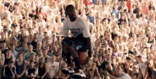 Jus Fly Wins Epic Dunk Contest in Russia – Between The Legs OVER 7 foot Person & More!