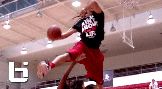 Kenny Dobbs Between The Legs OVER a sign! NASTY Dunks During Ballislife All American Half-Time!