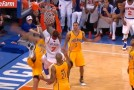 "Melo's poster dunk on Pacers causes ""show me your dunk face"" reactions from Ewing, women and teammates"