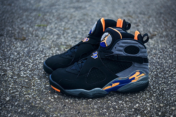 air jordan retro 8 orange grey
