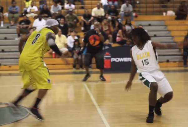 Bone Collector between the legs, crossover, hesitation move on defender