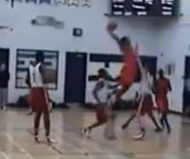 Canada's Mikyle Mcintosh posterizes defender