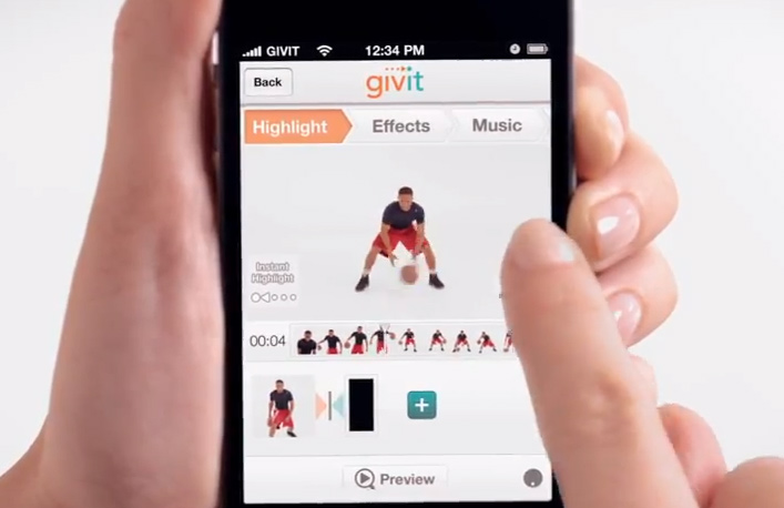 Givit Video editing app lets you create your own Ballislife