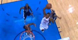 Kevin Durant crosses Quincy Pondexter then dunks on Darrell Arthur in GM2