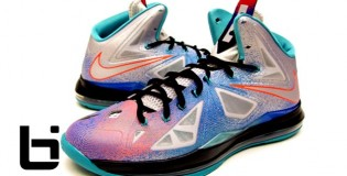 Nike Lebron X Pure Platinum/Black-Sport Turquoise