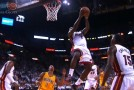 Wade upset after Chalmers passes on him to pass to LeBron for the reverse dunk