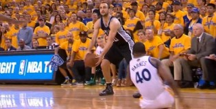 Manu Ginobili Drops Harrison Barnes With The Stepback Move!