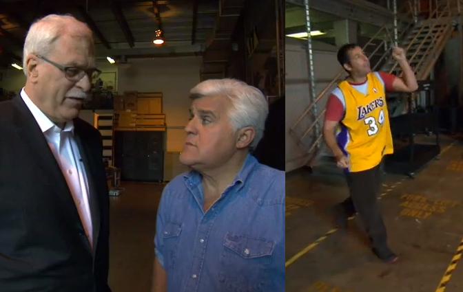 Phil Jackson compares Kobe & Jordan on Jay Leno | Kobe isn't competitive off-the-court