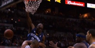 Quincy Pondexter baseline dunk on Boris Diaw